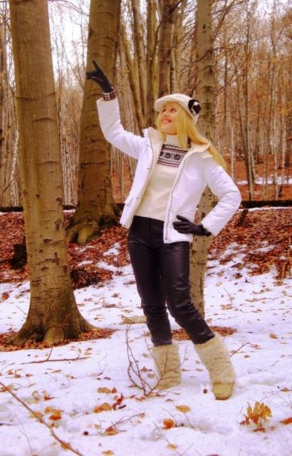 Zimowa biel i czerń