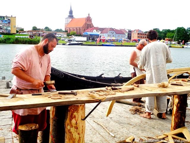 Festiwal Słowian i Wikingów łódź wikingów