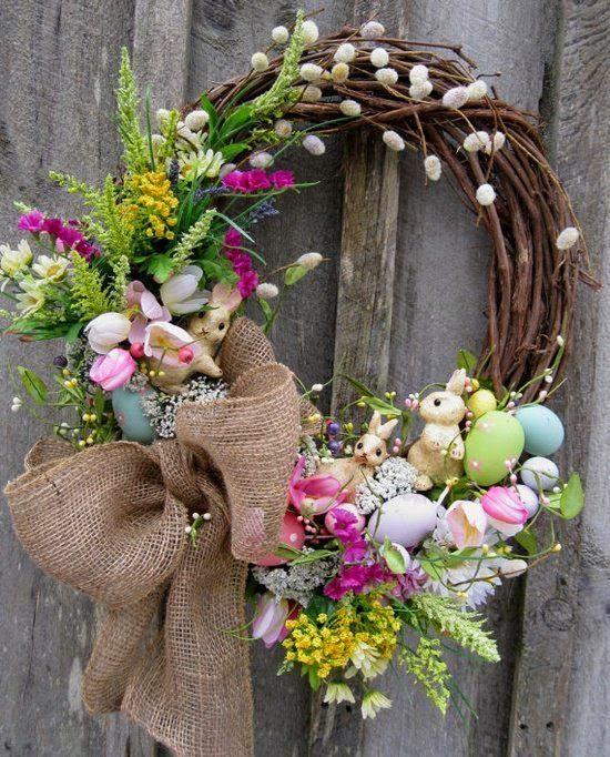 Wielkanoc tuż tuż ozdoby bazie