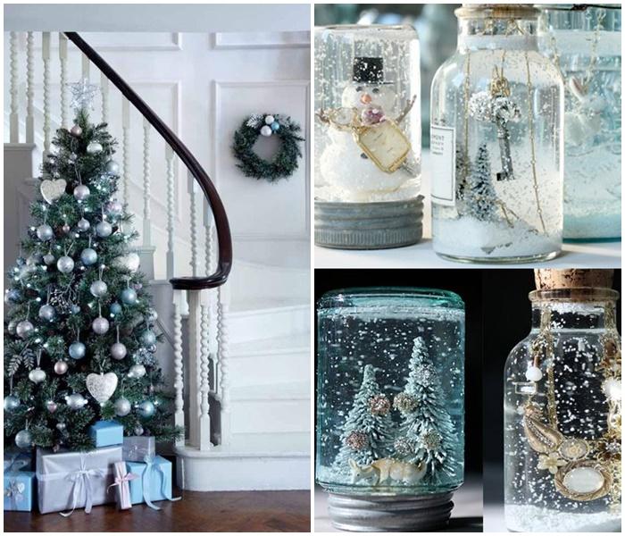 Niebieskie dekoracje bożonarodzeniowe