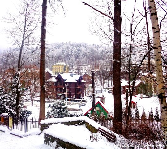 Krynica – Zdrój zimą