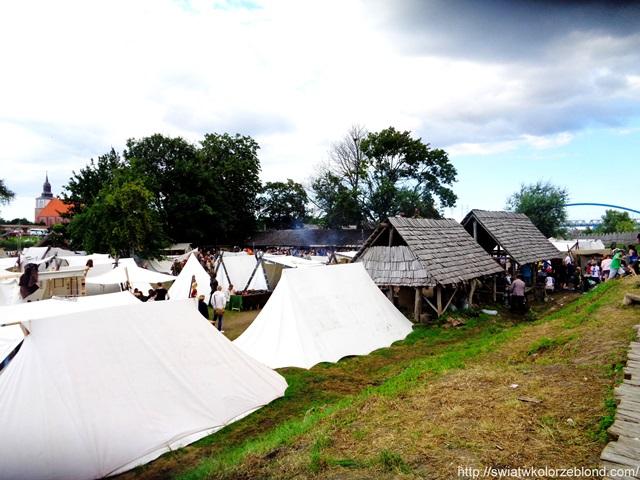 Festiwal Słowian i Wikingów wioska