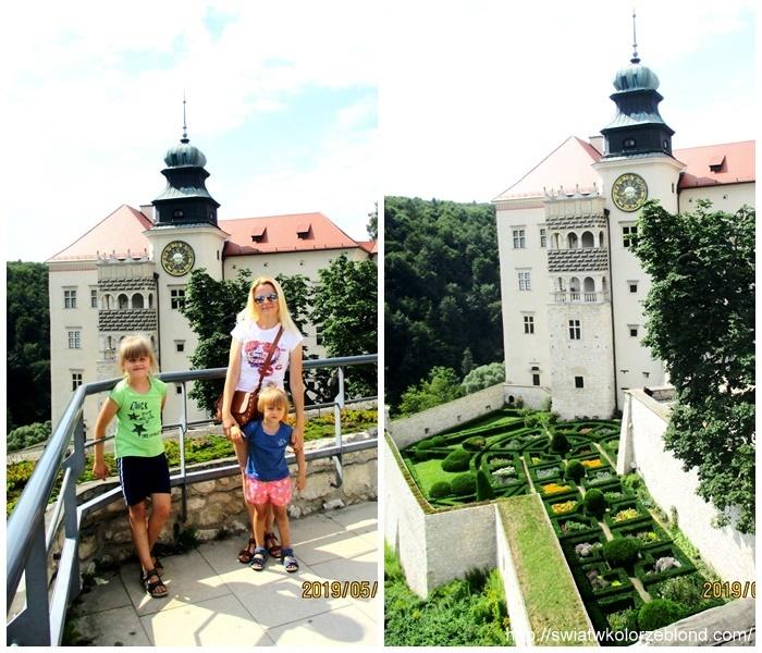 Zamek w Pieskowej Skale ogrod