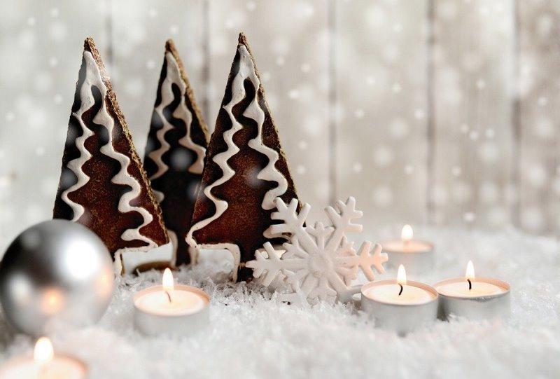Kolory Bożego Narodzenia biel srebro